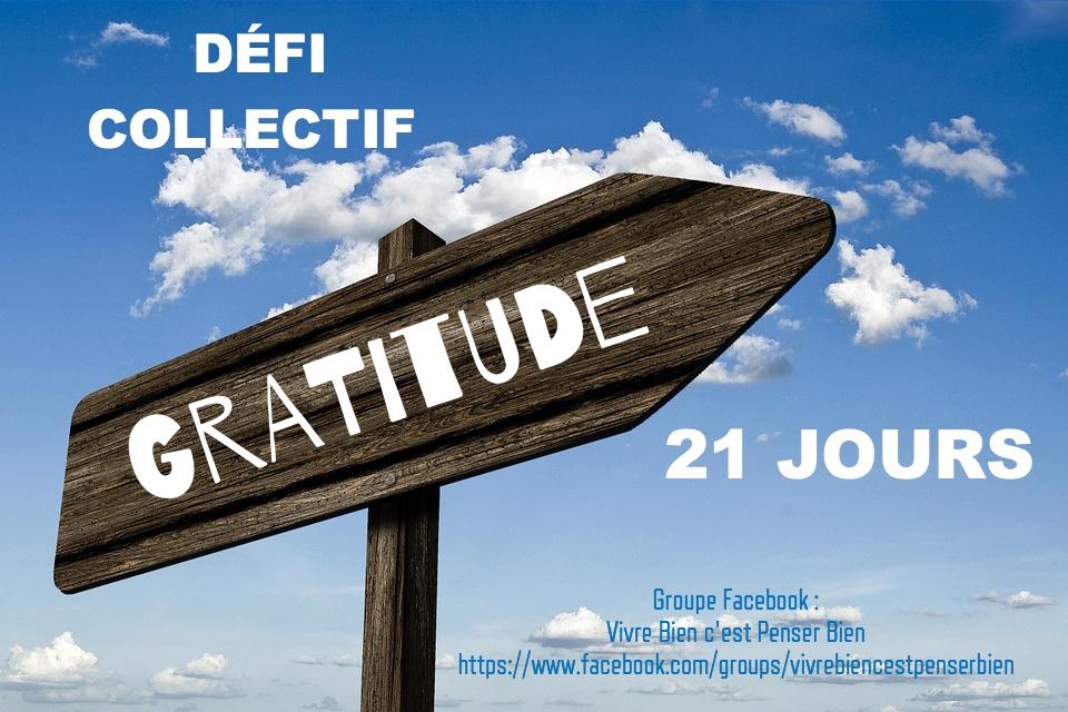 21 JOURS AVEC LA GRATITUDE  !
