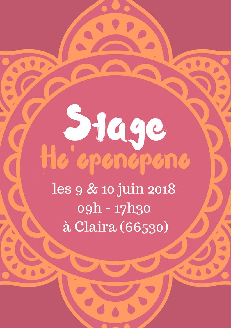 STAGE HO'OPONOPONO LES 9 & 10 JUIN 2018