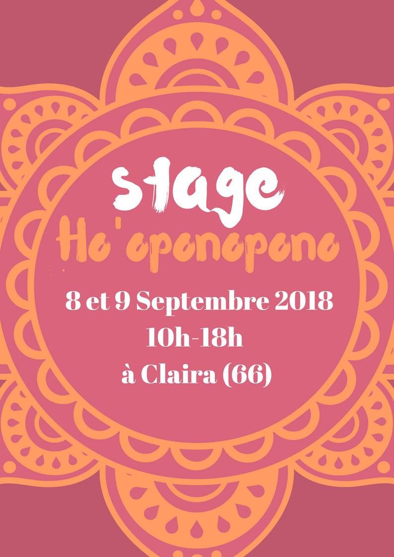 STAGE HO'OPONOPONO – SEPTEMBRE 2018