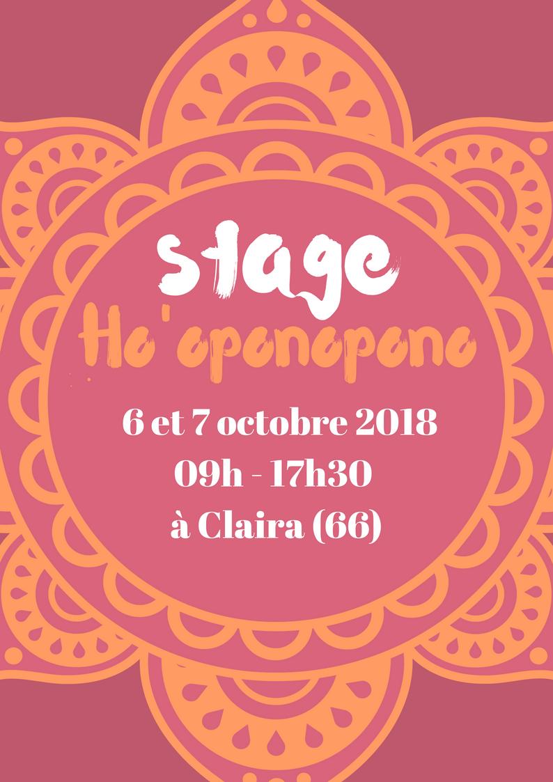 STAGE HO'OPONOPONO – OCTOBRE 2018