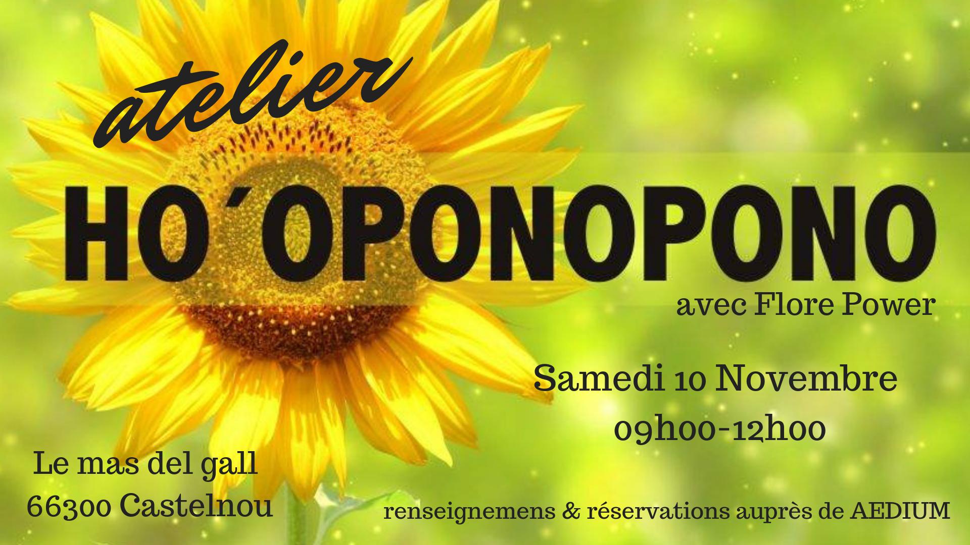 ATELIER HO'OPONOPONO – NOVEMBRE 2018