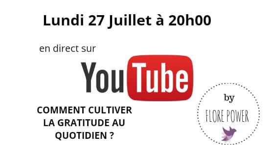 YouTube Live Lundi 27 Juillet à 20h00